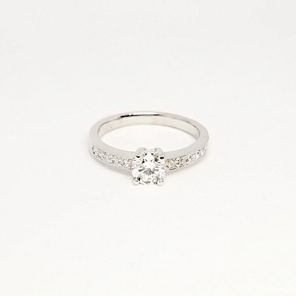 9kt White Gold Perfect Engagement Ring - Cape Diamond Exchange