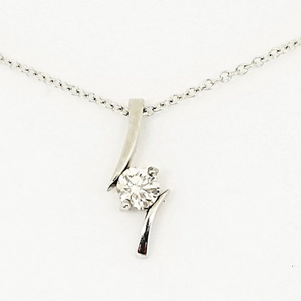 Platinum and Diamond Pendant - Cape Diamond Exchange