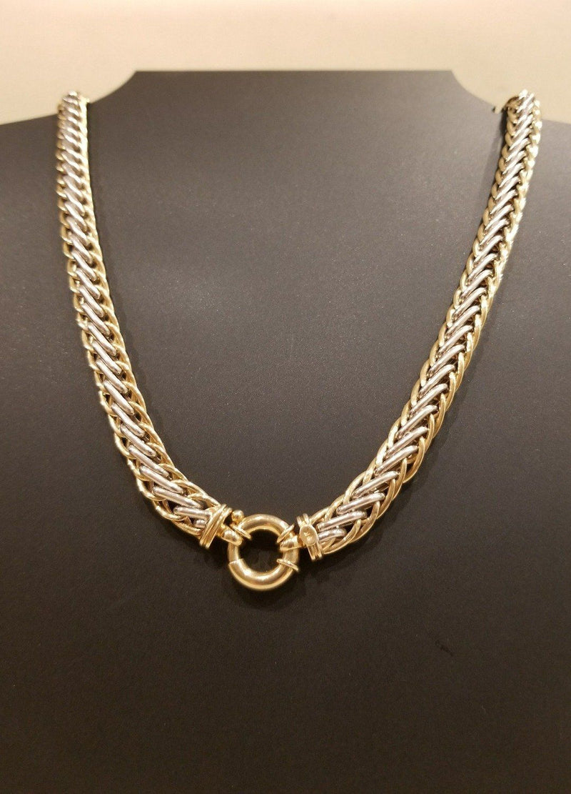 9 kt Yellow and White Gold Necklace with Signorettin Clasp - Cape Diamond Exchange