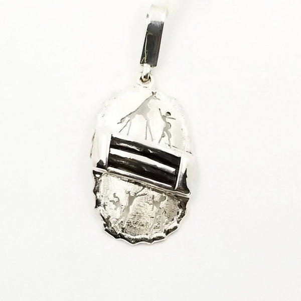 Silver Pendant with Elephant Hair - Cape Diamond Exchange