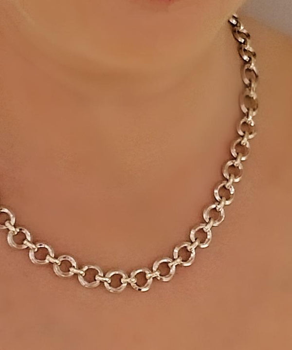 9 kt White and Yellow gold necklace - Cape Diamond Exchange