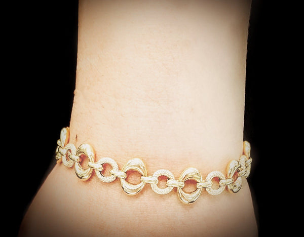 18 kt Yellow Gold Bracelet Two Links - Cape Diamond Exchange