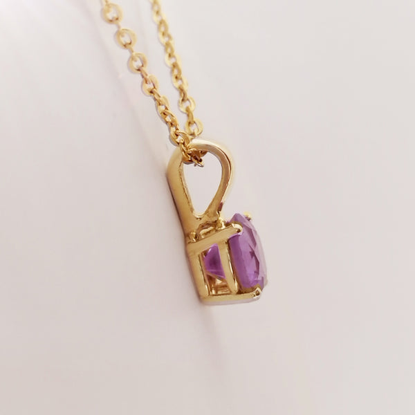 Yellow Gold and Amethyst Pendant- Cape Diamond Exchange