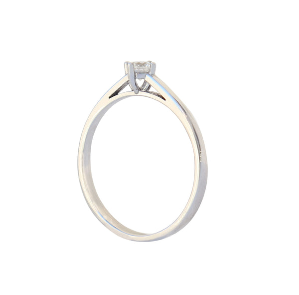 White Gold Four Claw Engagement Ring - cape diamond exchange
