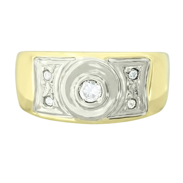 9 kt Yellow Gold Fancy Cubic Zircon Ring - Cape Diamond Exchange