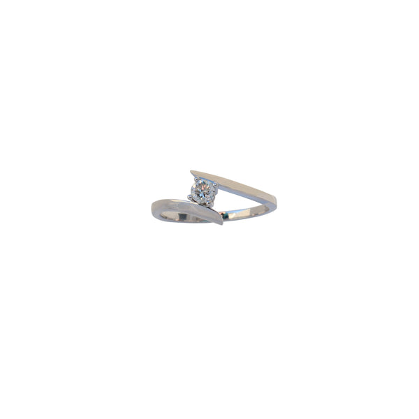 White Gold Diamond By-Pass Engagement Ring