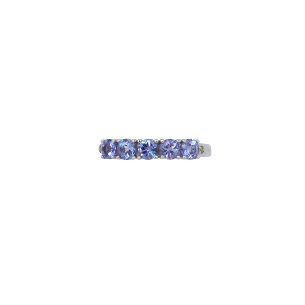 Tanzanite Half Eternity Ring - Cape Diamond Exchange