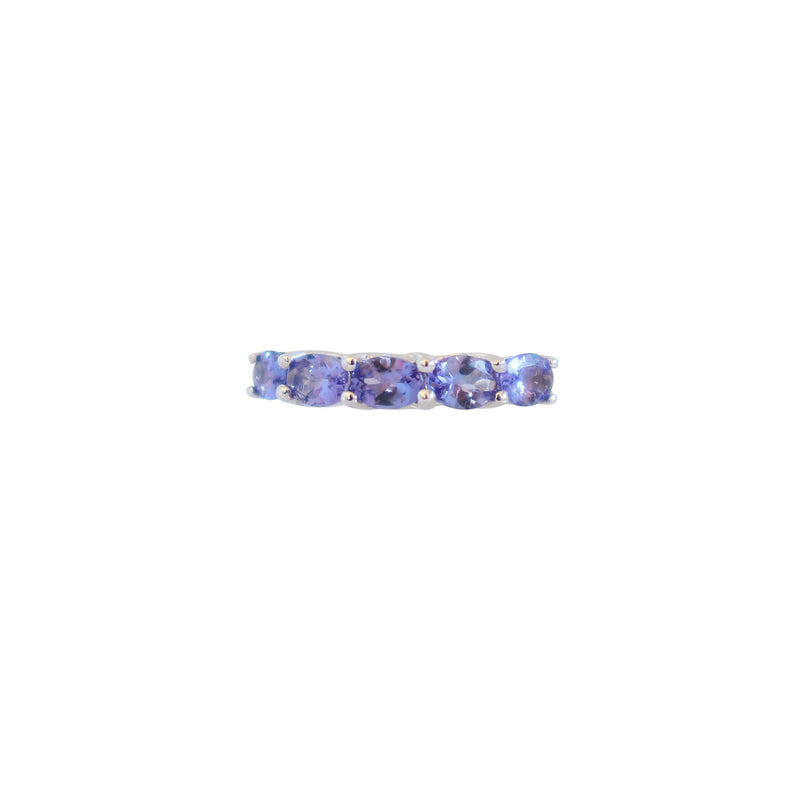 9 kt White Gold Tanzanite Eternity Ring - Cape Diamond Exchange