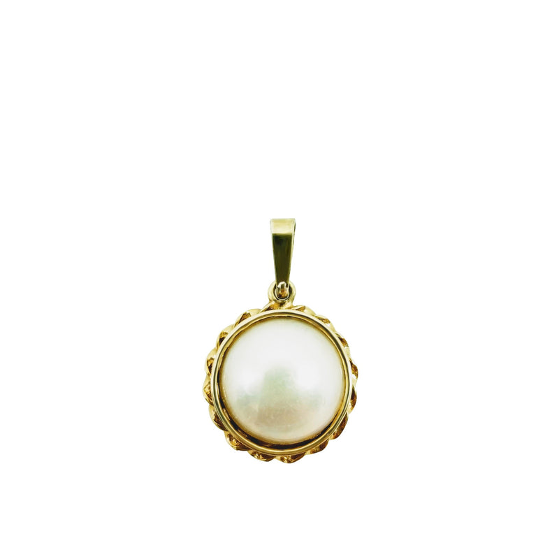 9 kt Yellow Gold Mabe Pearl Pendant - Cape Diamond Exchange