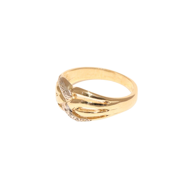 Yellow Gold Ring with Cubic Zircon