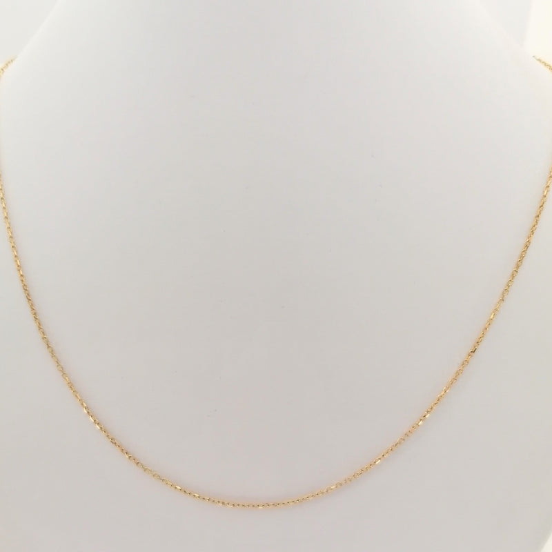Yellow gold anchor chain - Cape Diamond Exchange