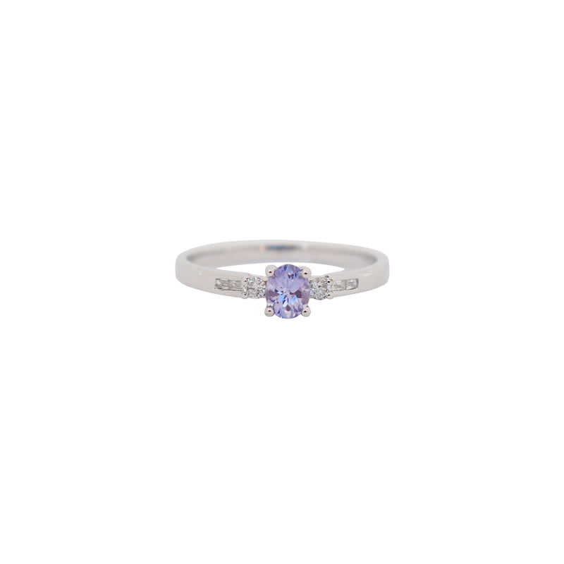 Tanzanite Ring with Diamonds - cape diamond exchange
