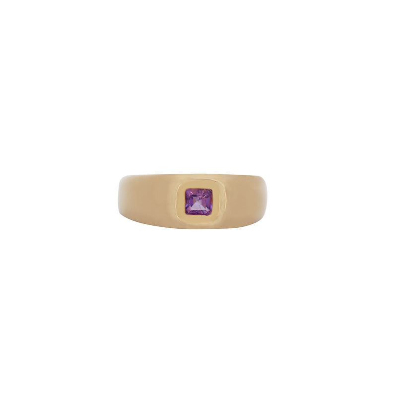 yellow gold and Amethyst gemstone - Cape Diamond Exchange