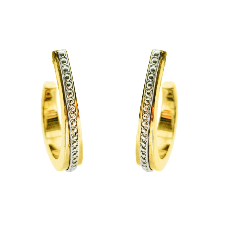 Gold Oval Hoop Earrings - Cape Diamond Exchange