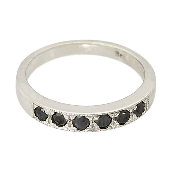 Black Diamonds set in a Pave setting style