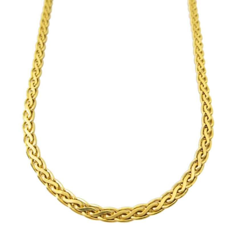18 kt Yellow Gold Braided Neck-piece - Cape Diamond Exchange