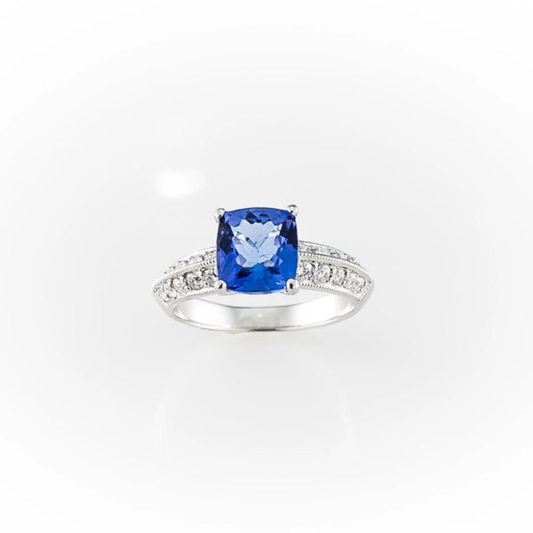 Diamond and Tanzanite Ring