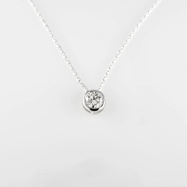 White Gold Floating Diamond Pendant