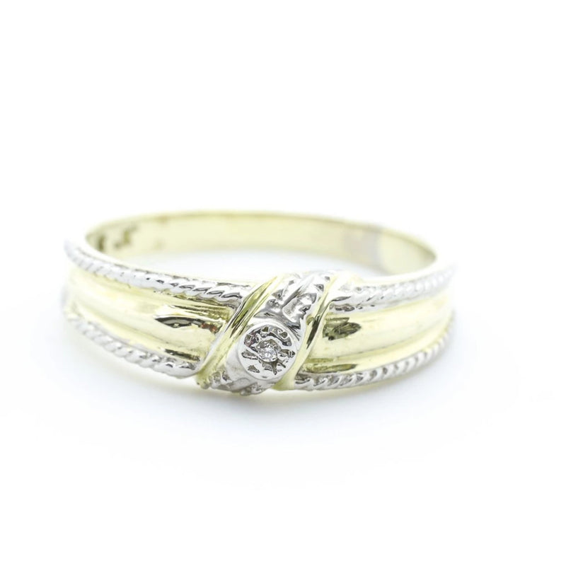 9 kt Yellow Gold Cubic Zircon Ring - Cape Diamond Exchange