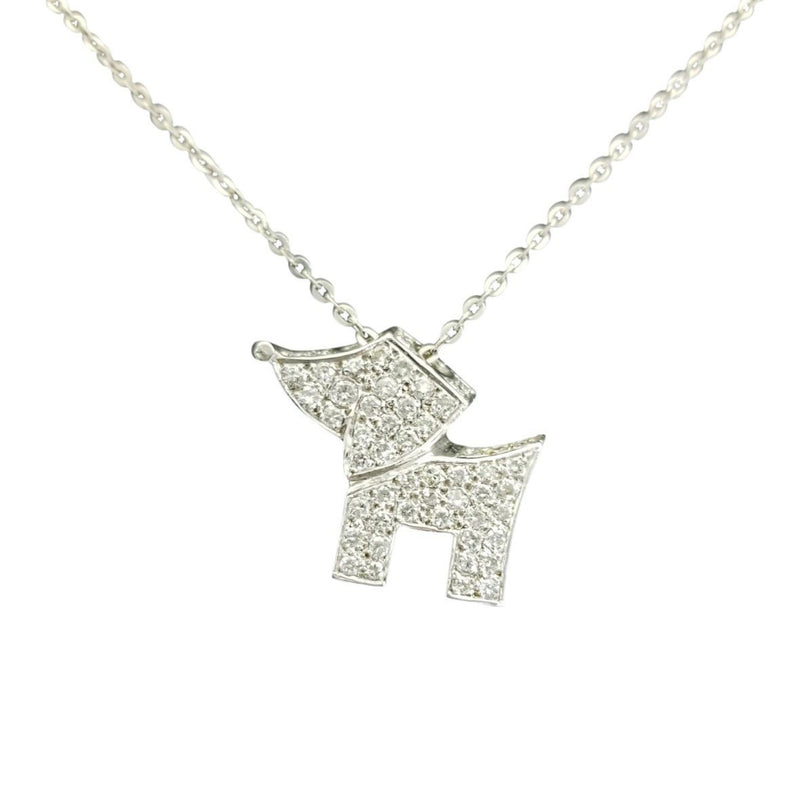 18 kt White Gold 3D Doggy Pendant with Diamonds - Cape Diamond Exchange