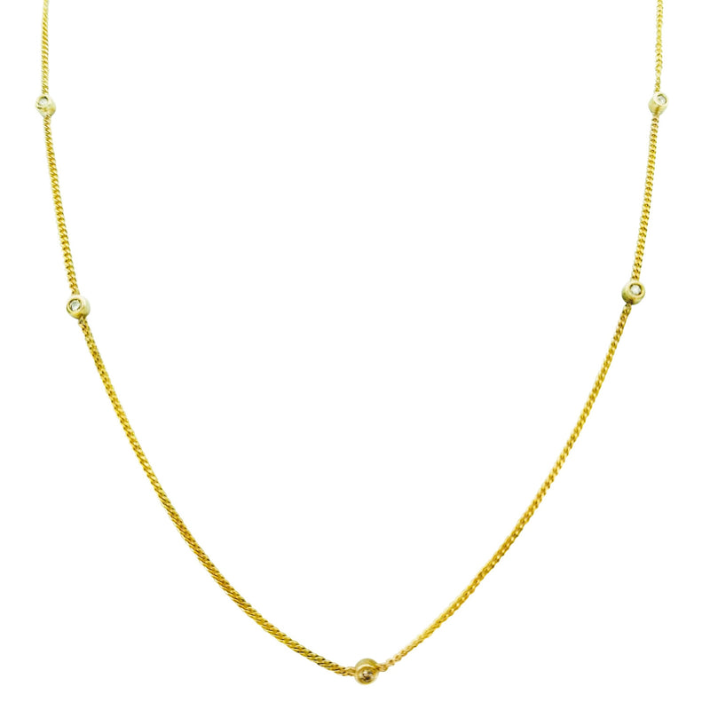 Yellow Gold and Diamond Doughnut Necklace