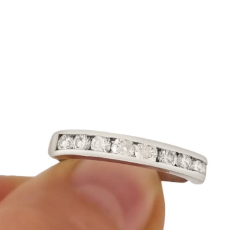 White Gold diamond half Eternity RIng