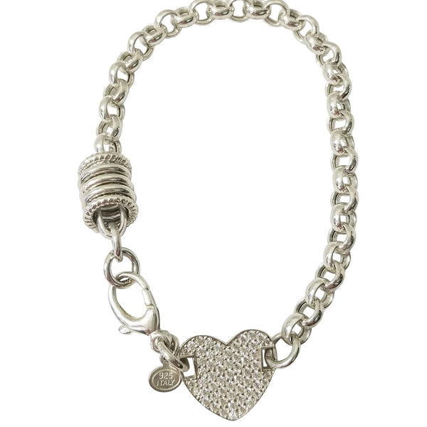 Chain Bracelet with Heart-Shaped Detail - Cape Diamond Exchange