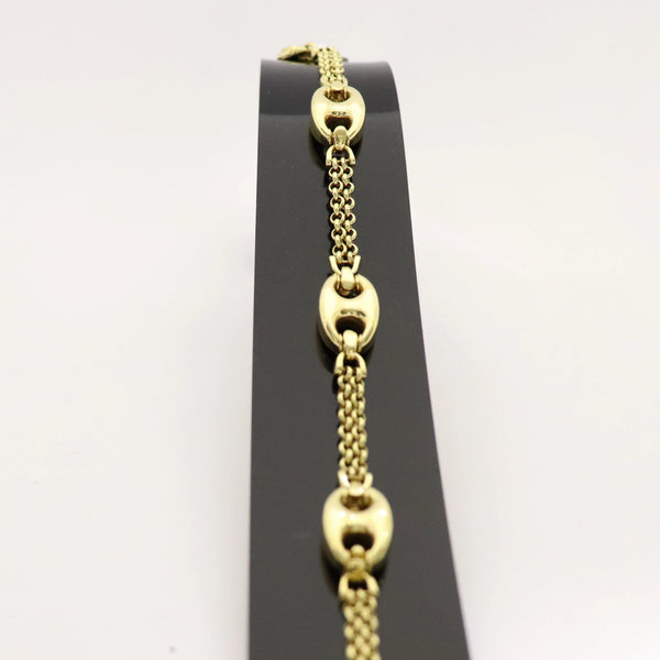 Yellow Gold Gucci Belcher Bracelet - Cape Diamond Exchange