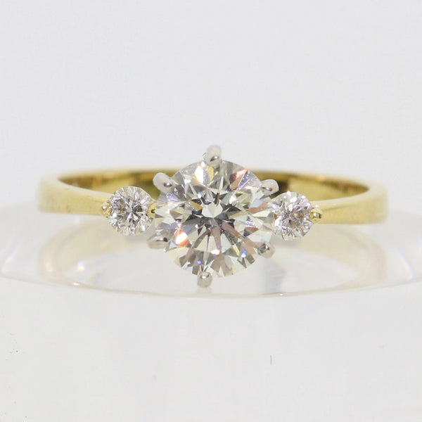 Trilogy Diamond Engagement Ring