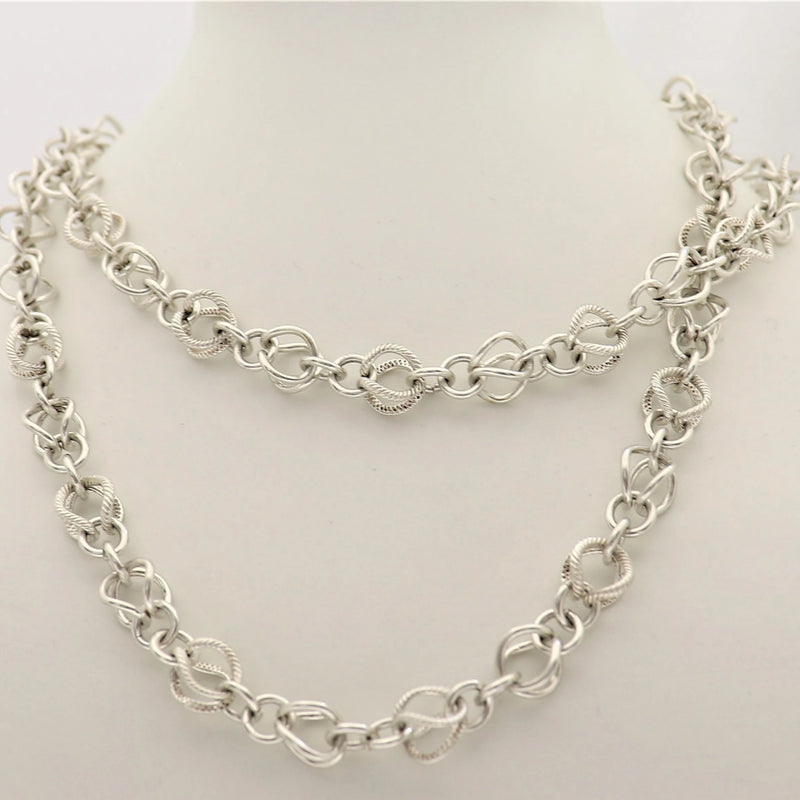 65cm Infinity Necklace in Silver