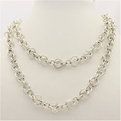 Silver Fancy Infinity Necklace