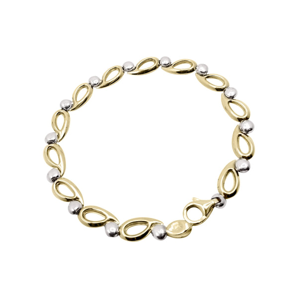 9kt Yellow and White Bracelet - Cape Diamond Exchange