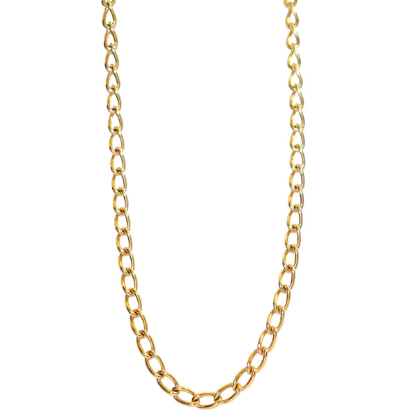 9kt Yellow Gold Open Link Chain - Cape Diamond Exchange