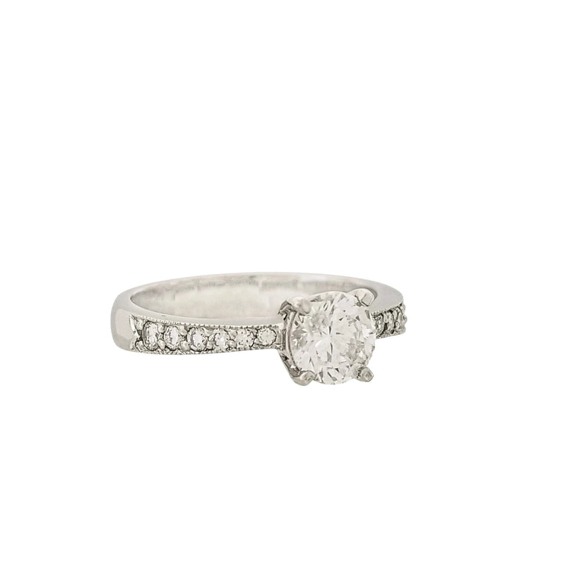 Platinum Diamond Four-Claw Engagement Ring - Cape Diamond Exchange