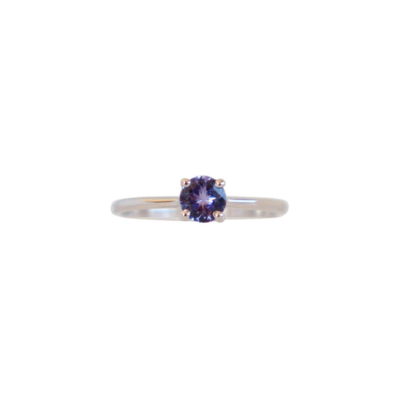 Round Tanzanite Solitaire Ring - Cape Diamond Exchange