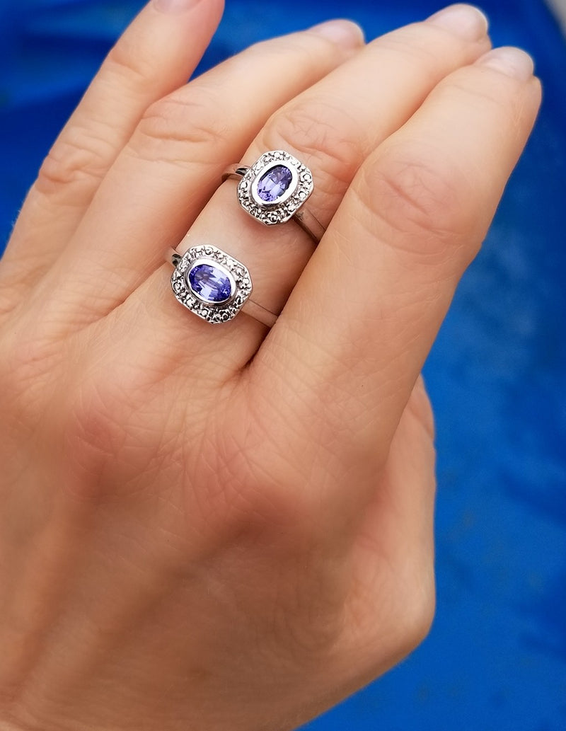 Oval Tanzanite Rings at Cape Diamond Exchange