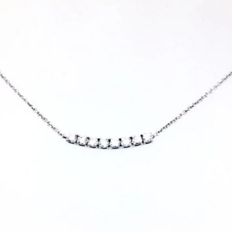 9kt White Gold with Tennis Necklace - Cape Diamond Exchange