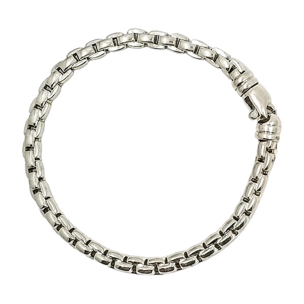 9 kt White Fope Gold Bracelet - Cape Diamond Exchange