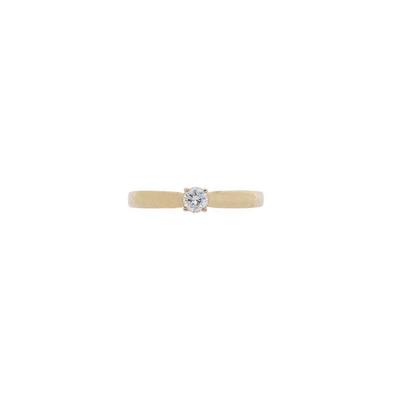 Yellow Gold Diamond Engagement Ring - cape diamond exchange