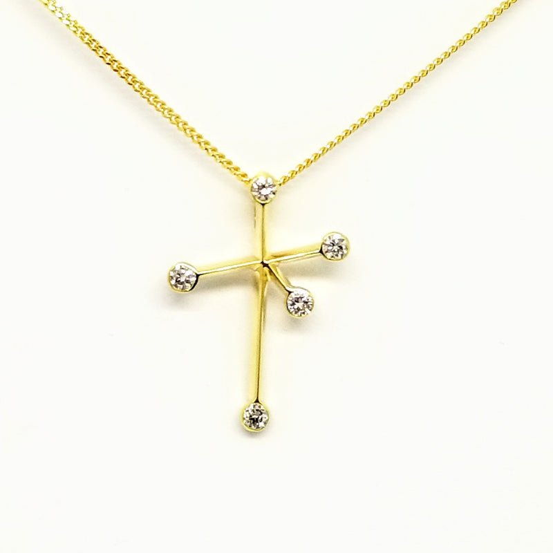 Yellow Gold Southern Cross Pendant - Cape Diamond Exchange