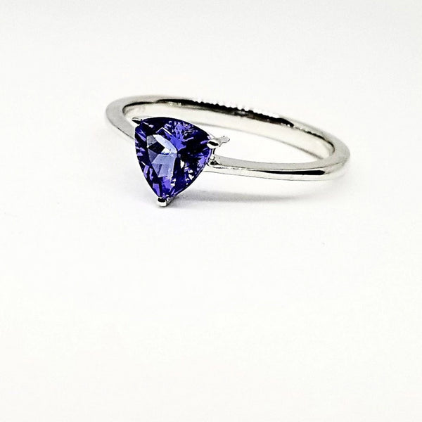 Trillian Tanzanite Stone set in White Gold ring