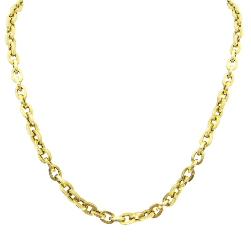 Anchor Chain of 9 kt Yellow Gold