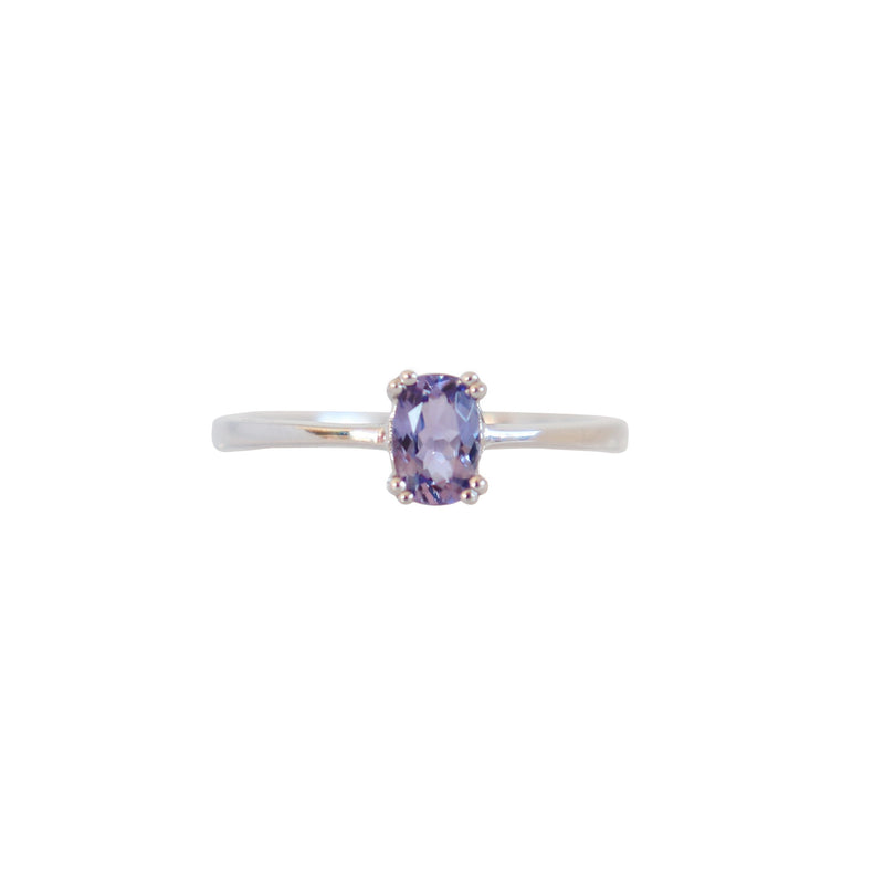 Double Four Claw Oval Tanzanite Solitaire Ring - Cape Diamond Exchange