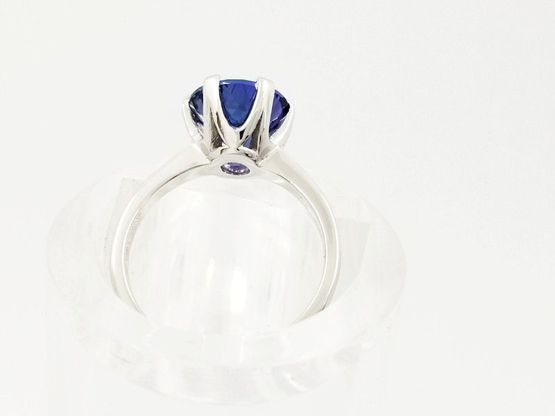 18 kt White Gold Tanzanite Ring, Protea Design - Cape Diamond Exchange