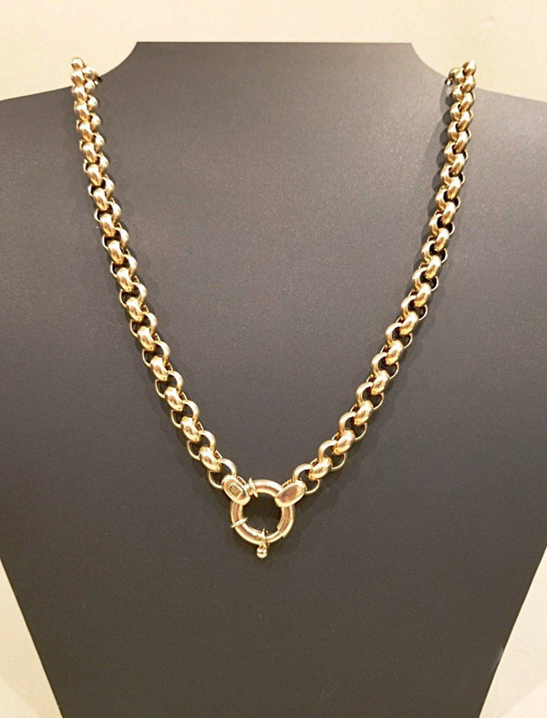 9 kt Yellow Gold Belcher Chain - Cape Diamond Exchange