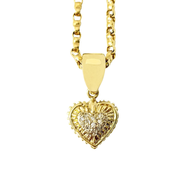 Heart Shaped Pendant with Diamonds - Cape Diamond Exchange