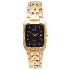 Sicura Women´s Watch SAMG 2692  Silver Quartz Stainless Steel Gold Tone