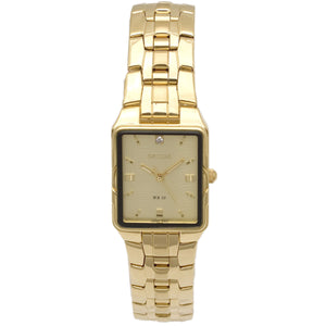 Sicura Women´s Watch SAMG 2292 Silver Quartz Stainless Steel Gold Tone