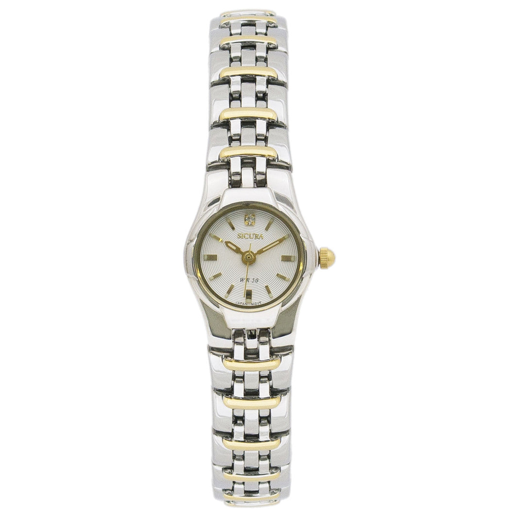Classic Women´s Quartz Watch on Stainless Steel 2-Tone band SAMG 2182