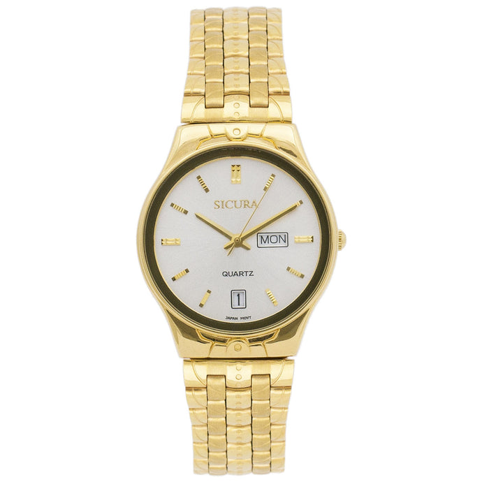 Sicura Women´s Watch SJH 3574 Silver Quartz Stainless Steel Gold Tone